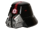 Part No: 98117pb01  Name: Minifigure, Headgear Helmet SW Sith Trooper with Red Stripe Narrow, Breathing Mask and Imperial Logo Pattern