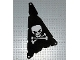 Part No: sailbb45  Name: Cloth Sail Triangular 15 x 22 Tattered with Skull and Crossbones Pattern