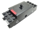 Part No: x1688pb01  Name: Electric, Train Motor 9V RC Train (motor only, no attached wheels) with Red Stripe Pattern