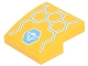Part No: 15068pb101  Name: Slope, Curved 2 x 2 No Studs with Yellow, Medium Azure and White Honeycomb and Bumblebee Pattern (Sticker) - Set 41234