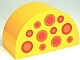 Part No: 31213pb027  Name: Duplo, Brick 2 x 4 x 2 Curved Top with 11 Circles with Spots Pattern