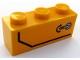 Part No: 3622pb108L  Name: Brick 1 x 3 with Door Handle and Black Stripe Pattern Model Left Side (Sticker) - Set 60159