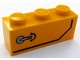 Part No: 3622pb108R  Name: Brick 1 x 3 with Door Handle and Black Stripe Pattern Model Right Side (Sticker) - Set 60159