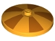 Part No: 3960pb053  Name: Dish 4 x 4 Inverted (Radar) with Solid Stud with Solid Stud with Five Orange Wedges Pattern