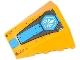 Part No: 47753pb049  Name: Wedge 4 x 4 No Top Studs with White Chima Logo in Hexagon and Dark Azure Stripe Pattern (Sticker) - Set 70129