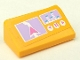 Part No: 85984pb171  Name: Slope 30 1 x 2 x 2/3 with GPS Map and Music Player Display Pattern (Sticker) - Set 41013