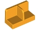 Part No: 93095  Name: Panel 1 x 2 x 1 with Rounded Corners and Center Divider