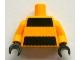 Part No: 973pb1413c01  Name: Torso Black Thick Stripes Pattern / Bright Light Orange Arms / Black Hands