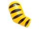 Part No: 982pb054  Name: Arm, Right with 5 Black Stripes (Tiger) Pattern