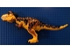 Part No: TRex06  Name: Dino Tyrannosaurus rex with Dark Orange and Black Back - Complete Assembly