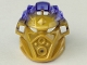 Part No: 24154pb02  Name: Bionicle Mask of Earth (Unity) with Marbled Trans-Purple Pattern