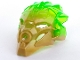 Part No: 24155pb02  Name: Bionicle Mask of Jungle (Unity) with Marbled Trans-Bright Green Pattern
