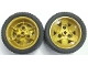 Part No: 41896c04  Name: Wheel 43.2mm D. x 26mm Technic Racing Small, 3 Pin Holes with Black Tire 56 x 28 ZR Street (41896 / 41897)