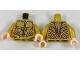 Part No: 973pb2853c01  Name: Torso Atlantean Armor with Metallic Gold Plates Pattern / Pearl Gold Arms / Light Flesh Hands