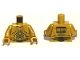 Part No: 973px160c04  Name: Torso SW C-3PO Pattern / Pearl Gold Arms / Pearl Gold Hands