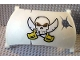 Part No: 54862pb01  Name: Duplo Boat Sail 11 x 7 with Skull and 2 Sabers Pattern