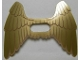 Part No: 20286a  Name: Minifig, Wings Collapsed with Center Opening and  Gold Feathers Pattern