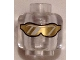 Part No: 3626cpb1347  Name: Minifig, Head Glasses with Gold Sunglasses with Reflective Lines Pattern - Stud Recessed