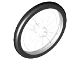 Part No: 92851c01  Name: Wheel Bicycle with Fixed Black Hard Rubber Tire (1-Piece Wheel)