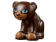 Part No: 14732pb01  Name: Bear Cub with Dark Azure Eyes, Black Nose and Dark Tan Paws Pattern