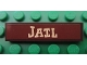Part No: 2431pb171  Name: Tile 1 x 4 with 'JAIL' Pattern (Sticker) - Set 7594