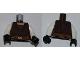Part No: 973pb0857c01  Name: Torso SW Layered Shirt, Dark Orange Belt Pattern (Saesee Tiin) / White Arms / Black Hands