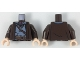 Part No: 973pb2350c01  Name: Torso SW Robe with Dark Bluish Gray Tunic, Necklace, Crossbelt and Belt with Gadgets Pattern / Dark Brown Arms / Light Flesh Hands