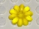 Part No: clikits020u  Name: Clikits Icon, Flower 10 Petals 2 x 2 Large with Pin - Undetermined Version)