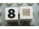 Part No: Mx1011Apb38  Name: Modulex Tile 1 x 1 with Black '8' Pattern (no internal lining)