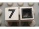 Part No: Mx1011Bpb33  Name: Modulex Tile 1 x 1 with Black '7' Pattern (with black lining on sides only)
