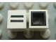 Part No: Mx1011Bpb36  Name: Modulex Tile 1 x 1 with Black '=' Pattern (with black lining on sides only)