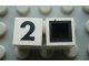 Part No: Mx1011Cpb28  Name: Modulex Tile 1 x 1 with Black '2' Pattern (with black lining on top and sides)