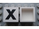 Part No: Mx1022Apb087  Name: Modulex Tile 2 x 2 with Black 'X' Pattern (no internal support)