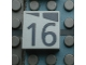 Part No: Mx1022Apb172  Name: Modulex Tile 2 x 2 with Dark Gray Slopes and Calendar Week Number '16' Pattern