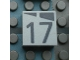 Part No: Mx1022Apb173  Name: Modulex Tile 2 x 2 with Dark Gray Slopes and Calendar Week Number '17' Pattern