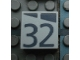 Part No: Mx1022Apb188  Name: Modulex Tile 2 x 2 with Dark Gray Slopes and Calendar Week Number '32' Pattern