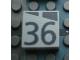 Part No: Mx1022Apb192  Name: Modulex Tile 2 x 2 with Dark Gray Slopes and Calendar Week Number '36' Pattern