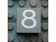 Part No: Mx1022Apb062  Name: Modulex Tile 2 x 2 with White '8' Pattern