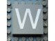 Part No: Mx1044pb02  Name: Modulex Tile 4 x 4 with White 'W' Pattern
