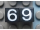 Part No: Mx1011Apb119  Name: Modulex Tile 1 x 1 with White '6' / '9' Pattern