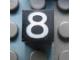 Part No: Mx1011Apb121  Name: Modulex Tile 1 x 1 with White '8' Pattern