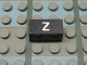 Part No: Mx1021Apb149  Name: Modulex Tile 1 x 2 with White 'Z' Pattern
