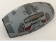 Part No: 10312pb04  Name: Windscreen 10 x 6 x 3 Bubble Canopy Double Tapered with Square Front Cutout and SW Rebel Combat Frigate Pattern
