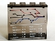 Part No: 4215bpb36  Name: Panel 1 x 4 x 3 with Train Map and Schedule Pattern (Sticker) - Set 7897/7997