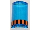 Part No: 85941pb002  Name: Cylinder Half 2 x 4 x 5 with 1 x 2 Cutout and Orange and Black Stripes Pattern (Sticker) - Set 5985