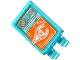 Part No: 30350bpb020  Name: Tile, Modified 2 x 3 with 2 Clips with Staff Top on Orange Screen Pattern (Sticker) - Set 76038