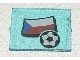 Part No: 3855pb012  Name: Glass for Window 1 x 4 x 3 with Flag of Czech Republic and Soccer Ball Pattern (Sticker) - Set 3404