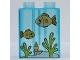 Part No: 4066pb280  Name: Duplo, Brick 1 x 2 x 2 with Aquarium and Fish Pattern