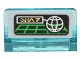 Part No: 4865pb059  Name: Panel 1 x 2 x 1 with SW Green Grid and Planet Pattern (Sticker) - Set 75136