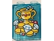 Part No: 76371pb084  Name: Duplo, Brick 1 x 2 x 2 with Bottom Tube with Goblet, Jewelry and Gold Coins Pattern
